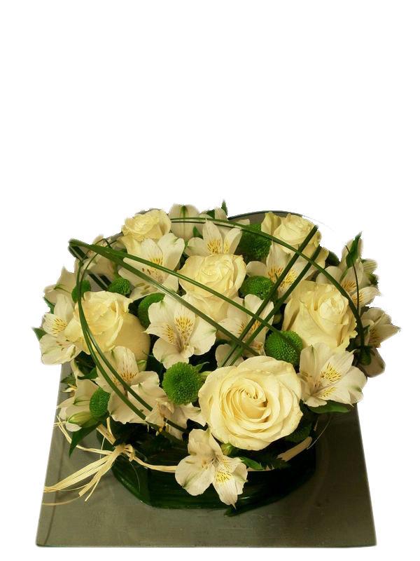 Centro de flores blancas para regalar y enviar