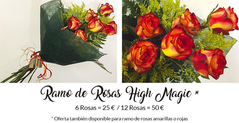 regalar rosas amarillas y rojas por el dia de la hispanidad en madrid