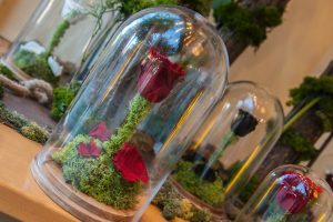 flor de la bella y la bestia en la tienda de efimeras en madrid