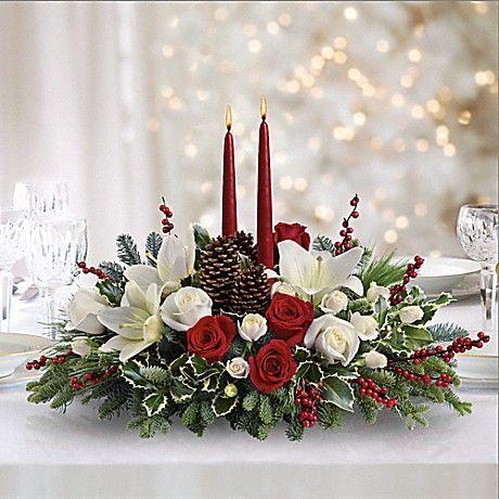 decorar la casa con flores en navidad